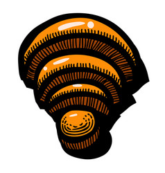Cartoon image of wifi icon wireless network vector