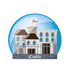 Castle inside sphere design vector