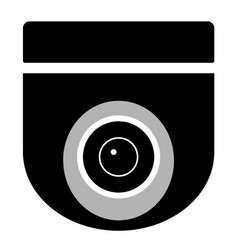 cctv camera on white background cctv sign vector image