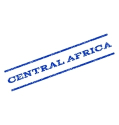 Central Africa Watermark Stamp vector image