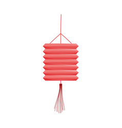 Chinese lantern ornament isolated icon style vector
