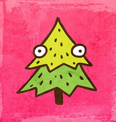 Christmas tree cartoon vector