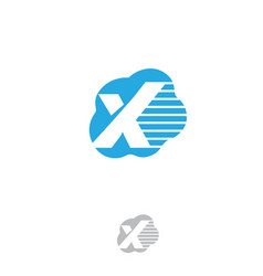 cloud letter x vector image