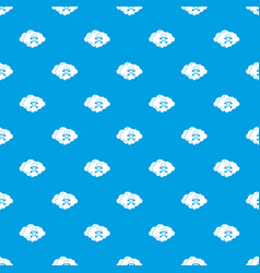 cloud with skull and bones pattern seamless blue vector image