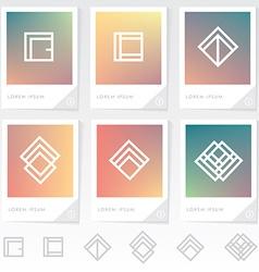 Company branding templates vector
