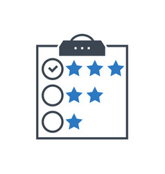 customer reviews glyph icon vector image