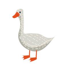 cute goose animal bird trend cartoon style vector image