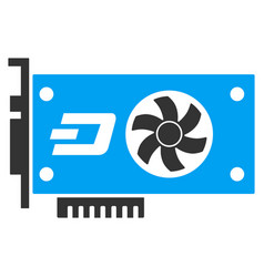 Dash video gpu card flat icon vector