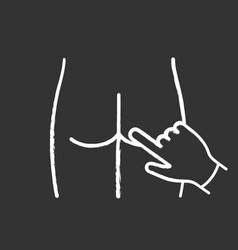 digital rectal exam chalk icon vector image
