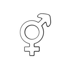 doodle transgender symbol vector image