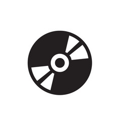 dvd or cd icon in flat style icon for apps ui vector image