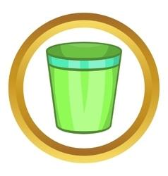 Empty trash can icon vector