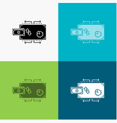 finance flow marketing money payments icon over vector image