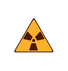 flat radiation icon yellow radiation symbol vector image