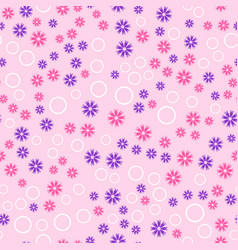 Flower pattern with rings seamless background vector