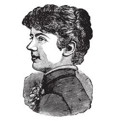 Frances cleveland vintage vector