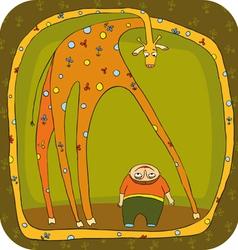 Giraffe Boy vector image