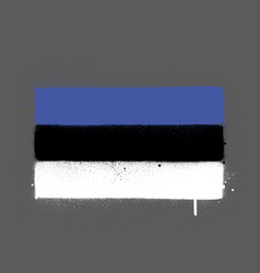 graffti estonia flag sprayed over grey vector image