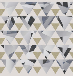 gray triangle pattern with grunge effect vector image