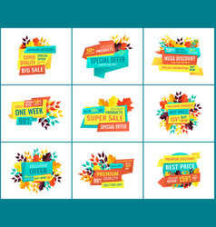 great deal banners for seasonal clearance sale vector image