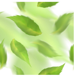 green leaves seamless pattern blurred veector vector image