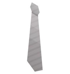 Grey tie icon isometric style vector