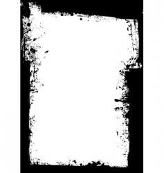 grunge border splat vector image