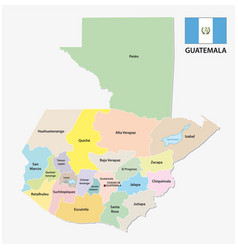 guatemala administrative and political map with vector image
