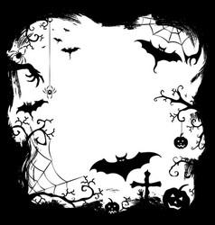 halloween styled frame design vector image