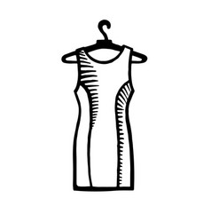 Hand drawn fashion icon vector