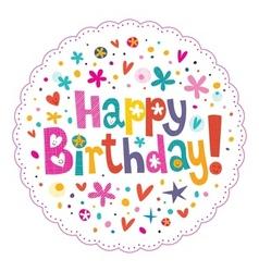 Happy Birthday 16 vector image