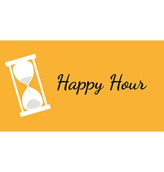 happy hour background with clock vector image