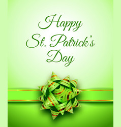 Happy st patricks day holiday banner vector