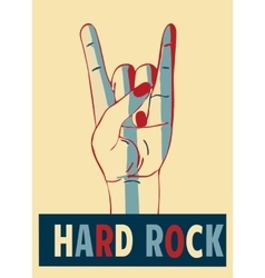 Hard rock stylish template for slogan poster or vector