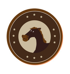 Horse character wild west icon vector