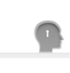 human head thinking creative idea psychology vector image