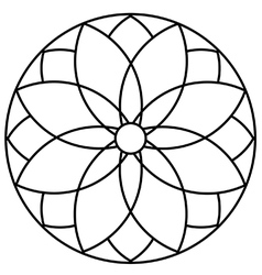 Interlocking circular flower vector