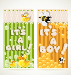 Its a boy and its a girl vertical banners 1 vector image