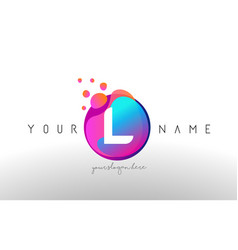 l dots letter logo with bubbles a letter design vector image