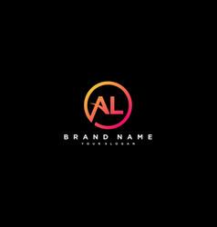 Letter al logo design vector