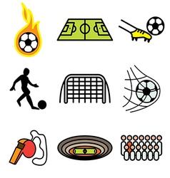 Logo icons soccer vector