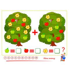Math education for children printable worksheet vector