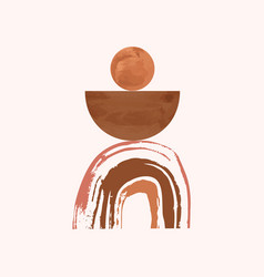 Minimal poster design watercolor shapes cover art vector