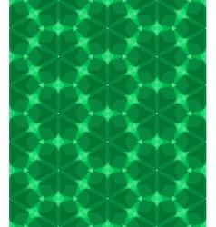 Multicolor geometric pattern in emerald green vector image vector image