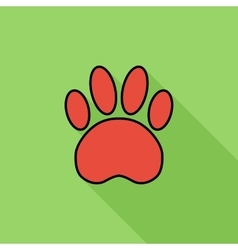 Paw flat icon vector image
