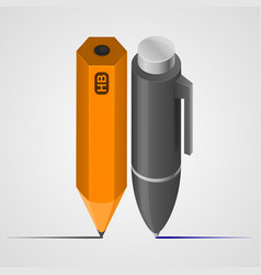 pen and pencil vector image