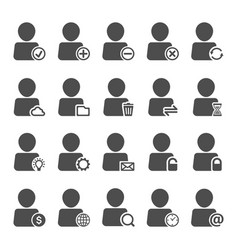 People icon set surroundings and technology vector
