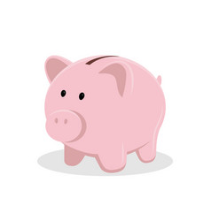 pig piggy bank isolated on white background flat vector image