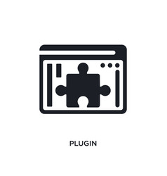 Plugin isolated icon simple element from vector