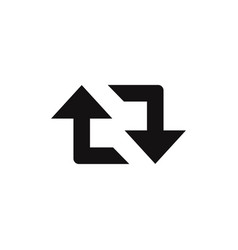 Retweet arrows icon vector